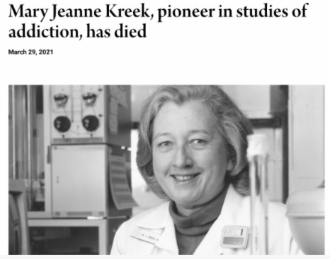 In Remembrance of Dr. Mary Jeanne Kreek